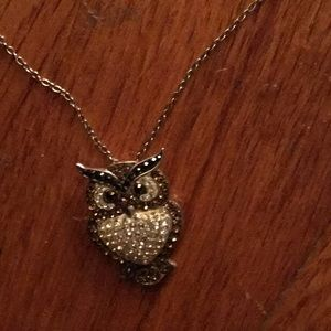 Sterling silver Owl with sterling silver chain
